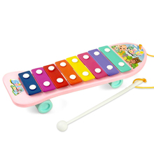 Plastic Frame 8 Scales Knocking Piano Children Kid Musical Toys Music Instrument Toy Early Learning Musical Toy 2017 Hot Sale