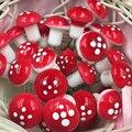 Новые 20 шт./компл. 2 см искусственные мини-грибы, миниатюрные сказочные садовые Террариум с мхом, изделия из смолы, украшения для дома