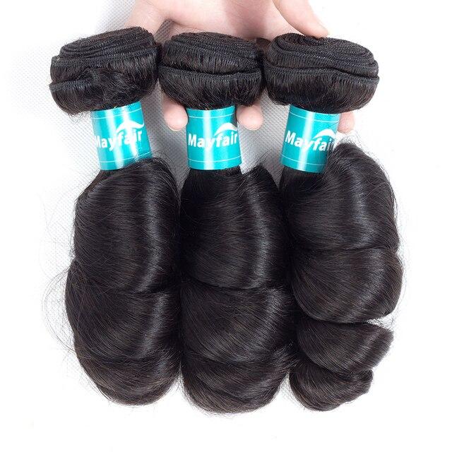 Mayfair Brazilian Loose Wave 100% Human Hair Weave 3 Bundles Remy Hair Extension Machine Double Weft Hair 1/3 Pcs