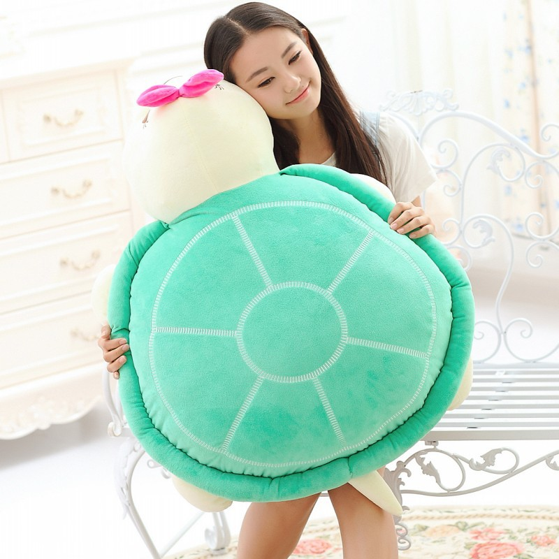 20-100CM Giant Stuffed Animal Tortoise Turtle Plush Doll Toy Bed Pillow Cushion Children Birthday Christmas Gift Kids Doll Toys