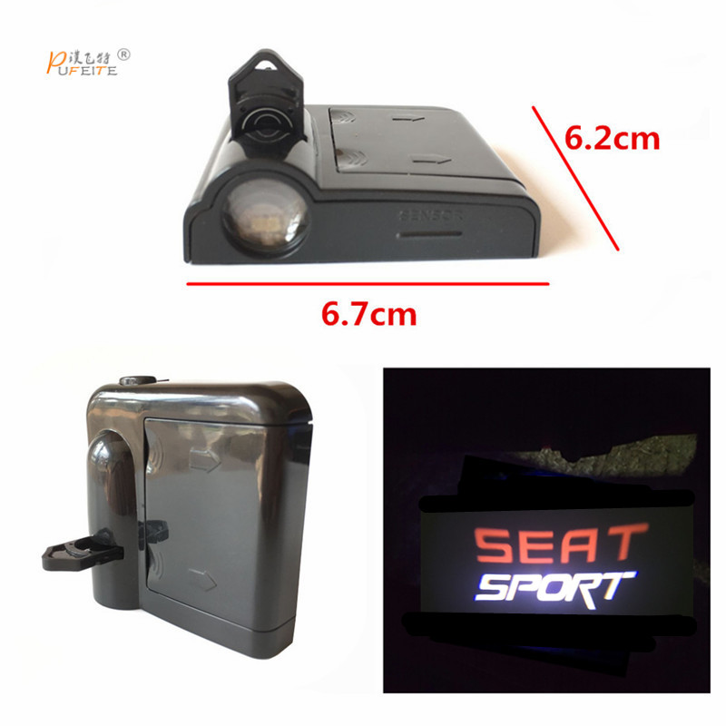 2pcs Car Door Welcome Logo Projector Light For Seat Leon Cupra 1 2 3 MK2 door FR seat sport logo factory wholesale car door logo film for change all kinds of cars logo shell light 3pcs per lots