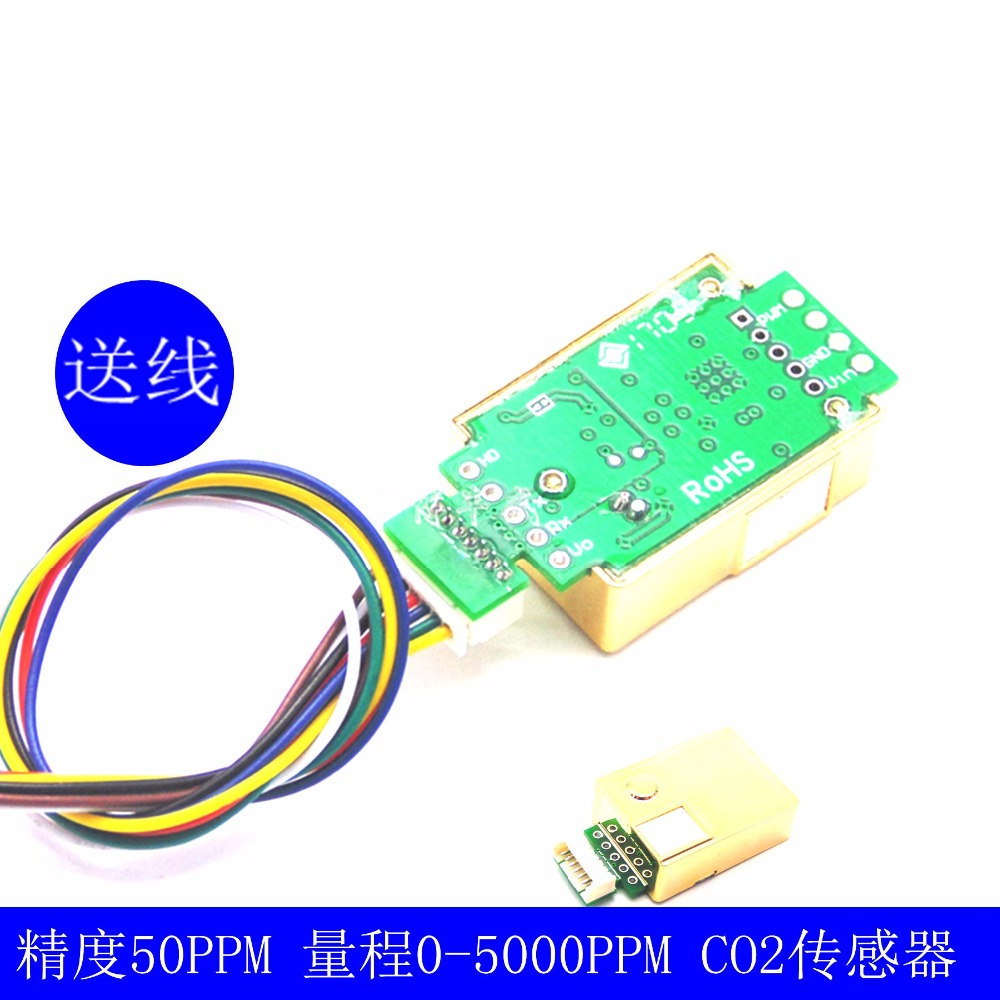 1 pz MH-Z19 NDIR CO2 a raggi infrarossi Modulo Sensore co2 sensore di 0-5000ppm1 pz MH-Z19 NDIR CO2 a raggi infrarossi Modulo Sensore co2 sensore di 0-5000ppm