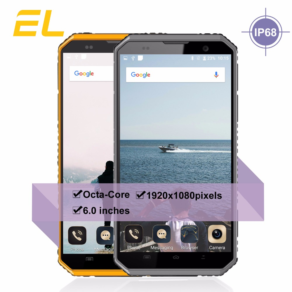 E L W9 Mobile Phone Rugged Waterproof Shockproof Phone IP68 Android 6 0 Inch IPS Full