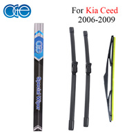 Combo Silicone Rubber Front And Rear Wiper Blades For KIA Ceed 2006 2012 Windscreen Wipers Car