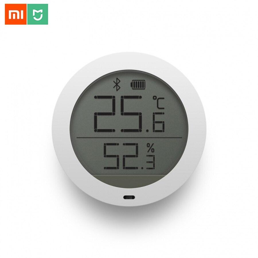 В наличии оригинал Сяо Mi Цзя <font><b>Bluetooth</b></font> Температура Smart Ху Mi dity Сенсор ЖК-дисплей Экран цифровой термометр, измеритель влажности mi App