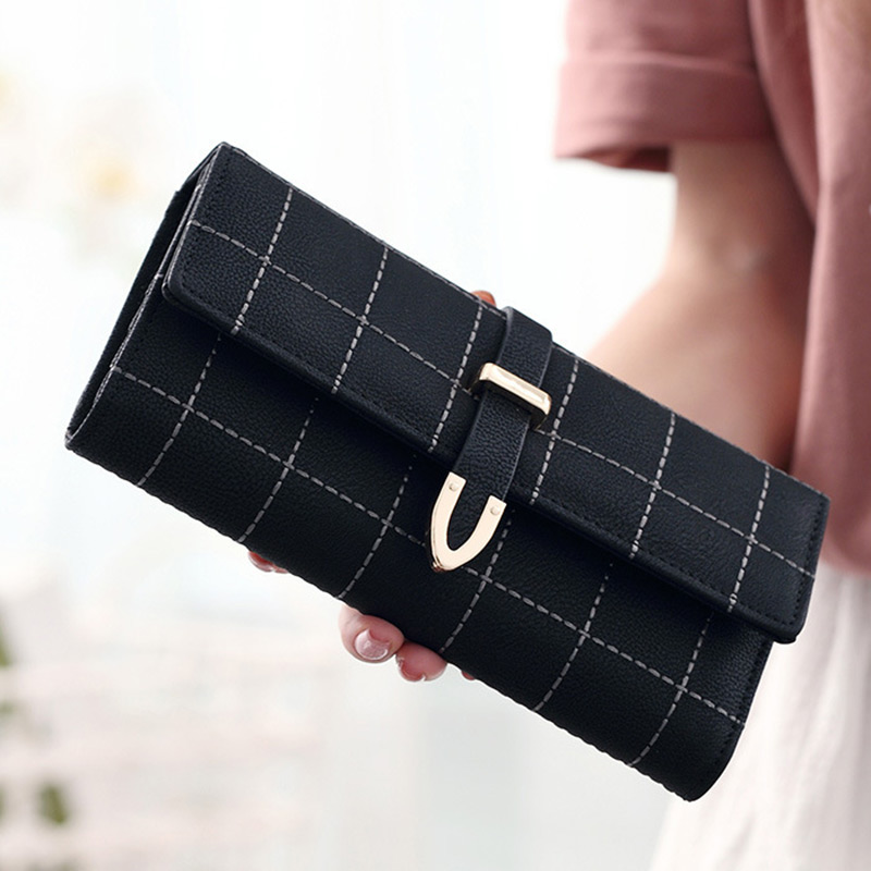 HANSOMFY Latest Lovely Long Women Wallet Nubuck Thread Thin Girls Purse Money Coin Card Holders Wallets Carteras Vintage Pocket vintage card holders women wallet clutch wallet womens wallets and purses leather purse for the girls coin purse carteras mujer