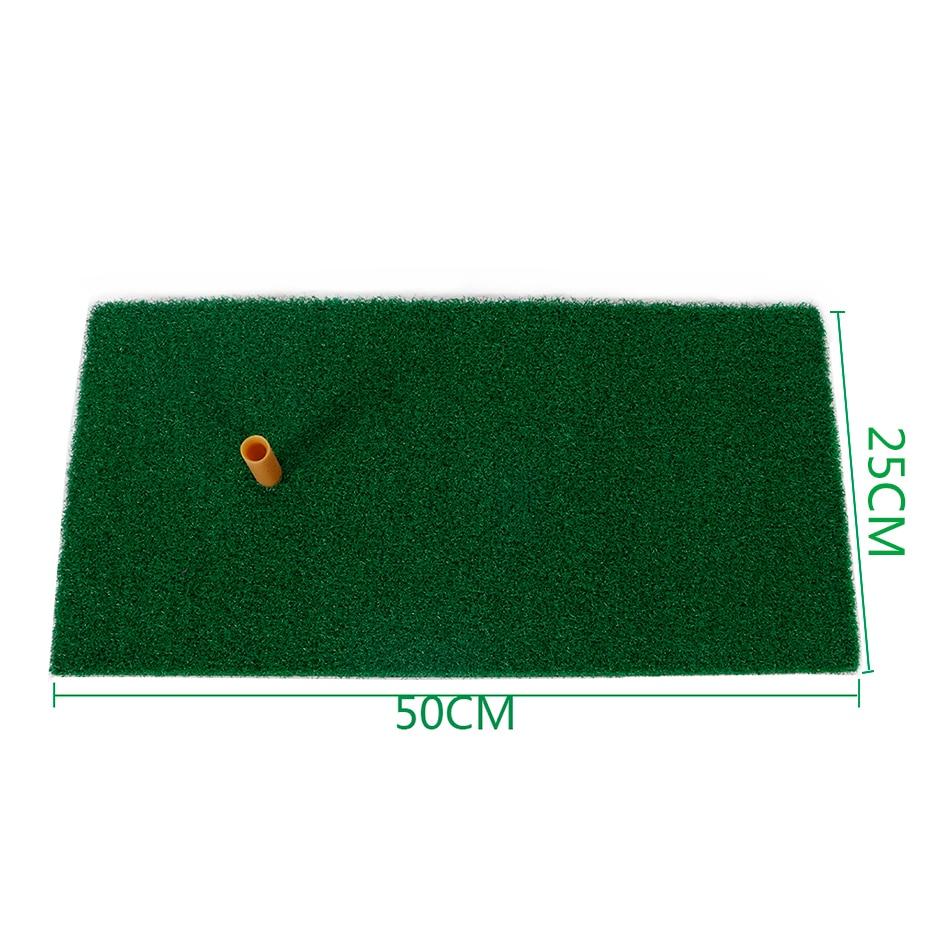 Indoor Backyard Golf Mat Training Hitting Pad Practice Rubber Tee Holder Grass Mat Grassroots Green50cm x 25cm