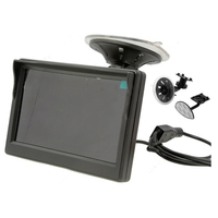 5 800 480 TFT LCD HD Screen Monitor For Car Rear Reverse Rearview Backup Camera Black