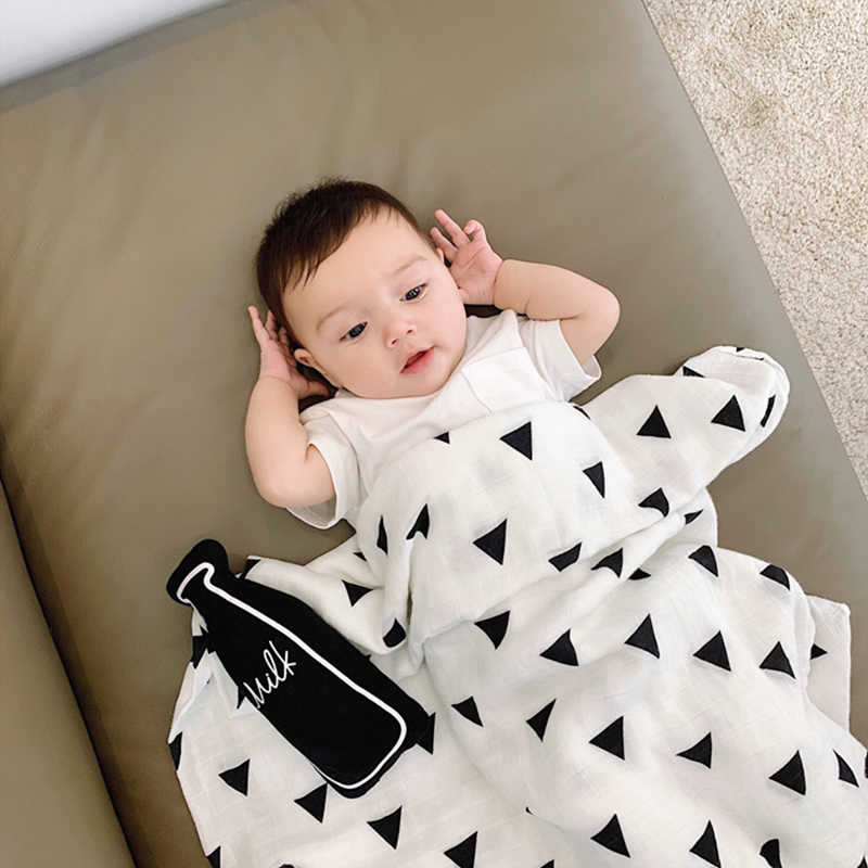sports shoes fe896 8739f Drop Shipping Muslin 100% Cotton Baby Swaddles Blankets Newborn Soft  Blankets Colorful Infant Wrap Sleepsack Swaddleme Manta