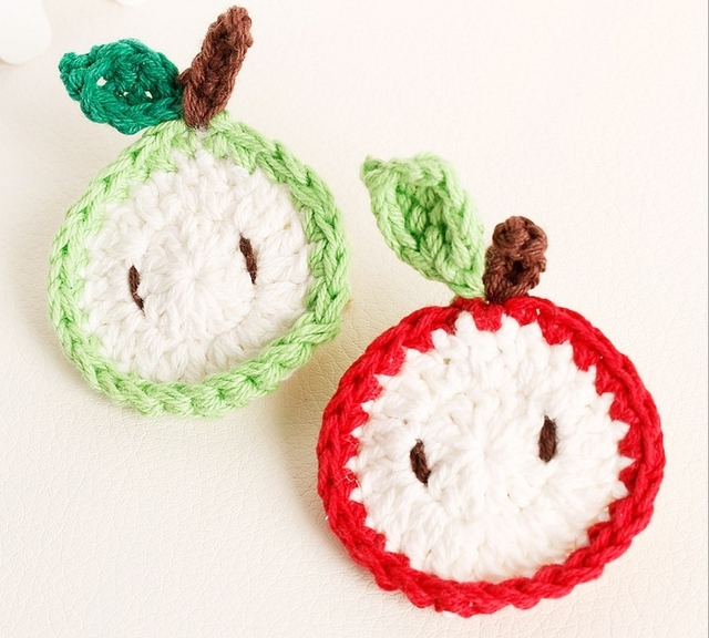 Aliexpress Buy Crochet Apple With Clips For Childrens Handmade