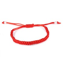Charm Simple Red Rope Handmade Knitted Bracelets & Bangles For Women man Children Fashion unisex Jewelry Gift