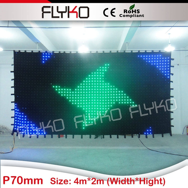 Tissu de LED de rideau en lampe à LED rvb avec contrôleur DMX de contrôleur SD