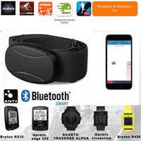 Bluetooth 4,0 ANT + Monitor de ritmo cardíaco correa de pecho Sensor de pulso cinturón Wahoo Garmin Polar BT ANT gimnasio deportes al aire libre banda de Fitness