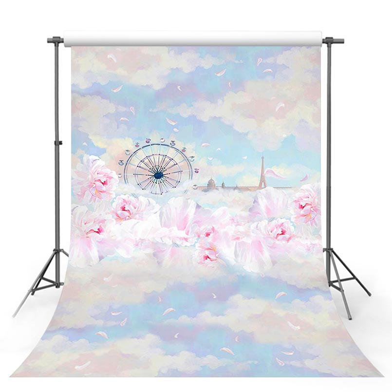 Customize love 3 D sky wonderland photo studio backgrounds for baby party portrait photography backdrops props