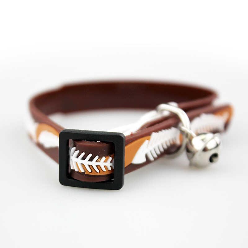 Mignon poisson os collier de chien de compagnie réglable doux chien cloche collier produit pour petit chat moyen chien chiot doux colle collier JW0003
