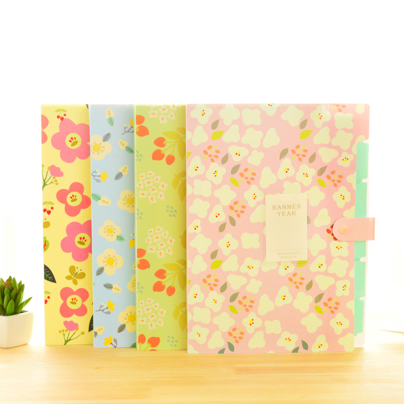 1pc Brand New Waterproof Book A4 Paper File Folder Bag Accordion Style Design Document Rectangle Office Home School Color Random