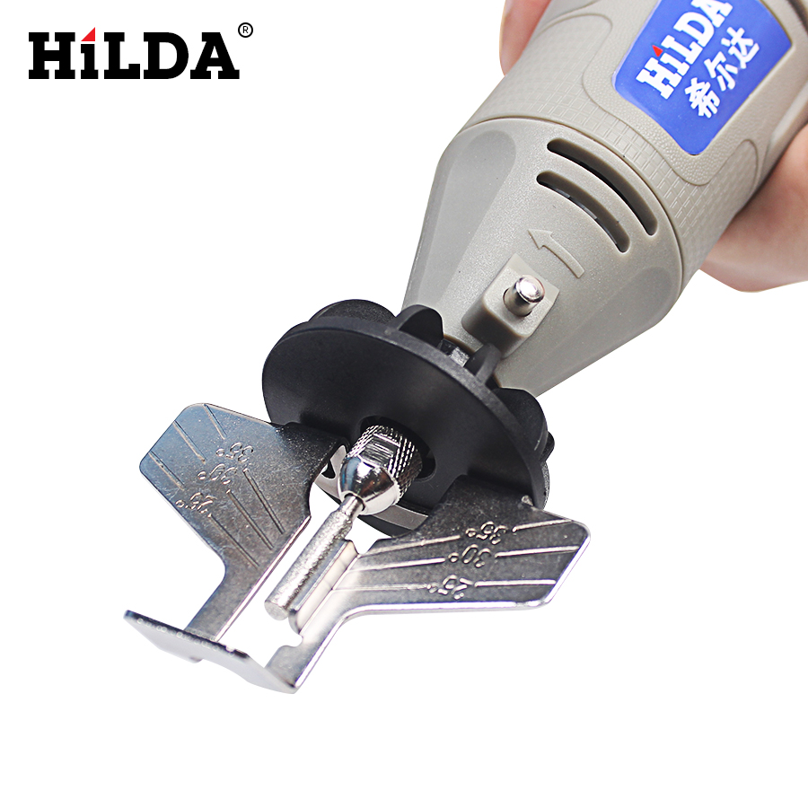 HILDA Saw Sharpening Attachment Sharpener Guide Drill Adapter Dremel Style Drill Rotary Tools Mini Drill Power Tools Accessories