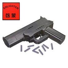 ENLIGHTEN 167pcs Set 3D Brick Black Weapon Air Gun Block Building Compatible With Legoe Model Pistol Toys Boys With Instruction