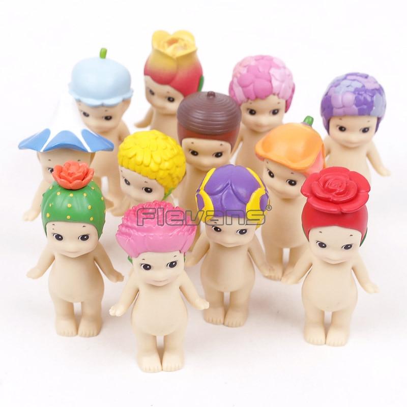 Sonny Angel Flower Series Mini PVC Figures Toys Dolls Full Set of 12 pcs Christmas Birthday Gift 12pcs set children kids toys gift mini figures toys little pet animal cat dog lps action figures