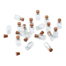 18x10mm HOT Mini Clear Glass Vials Jewelry Special Jewellry Gift Bead Storage Cork  Jar Containers Wish Bottle Making Tampion