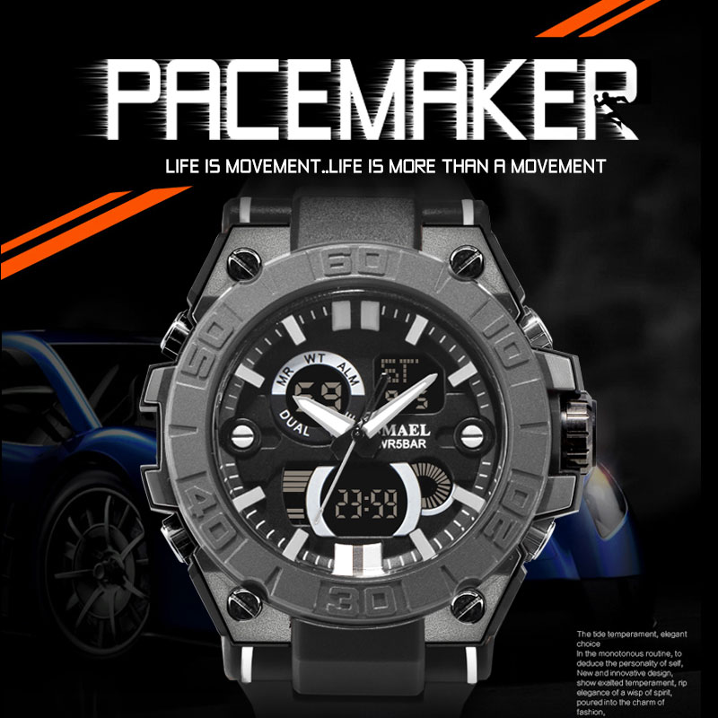 NEW Wrist Watch For Men Black Waterproof 50M Shock Resitant Digital Watch Men Military Clock 8003 Male Clock Relogio Masculino