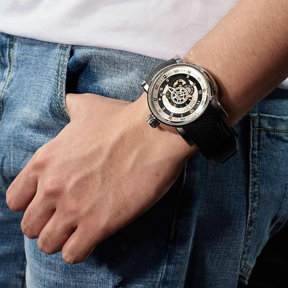 2019 New Reef Tiger/RT Top Brand Sport Watch Men Waterproof Designer Automatic Watches Rubber Strap Military Watches RGA30S7