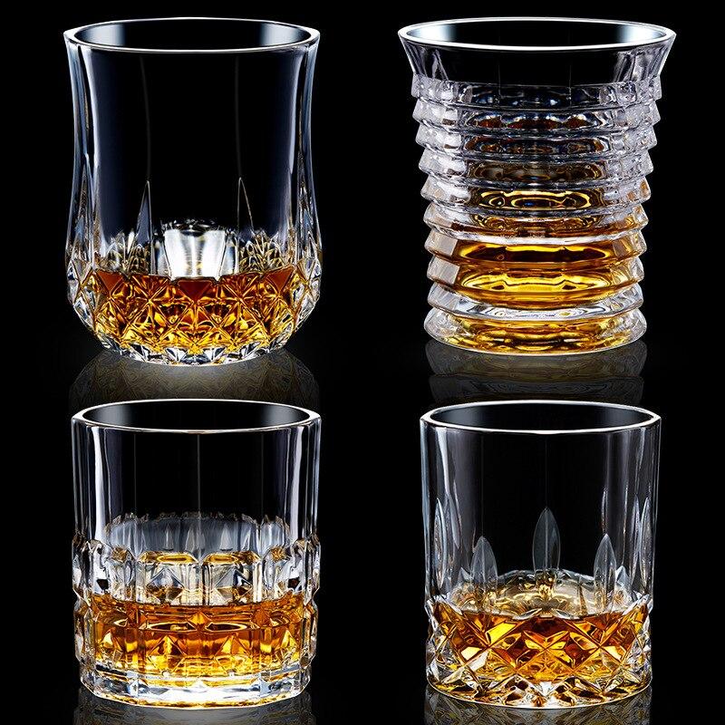 Us 11 91 25 Off Grande Bling Diamante De Vidro De Vinho De Cristal De Chumbo Alta Capacidade Livre Whiskey Xo Cocktail Vodka Beer Drinking Cup In