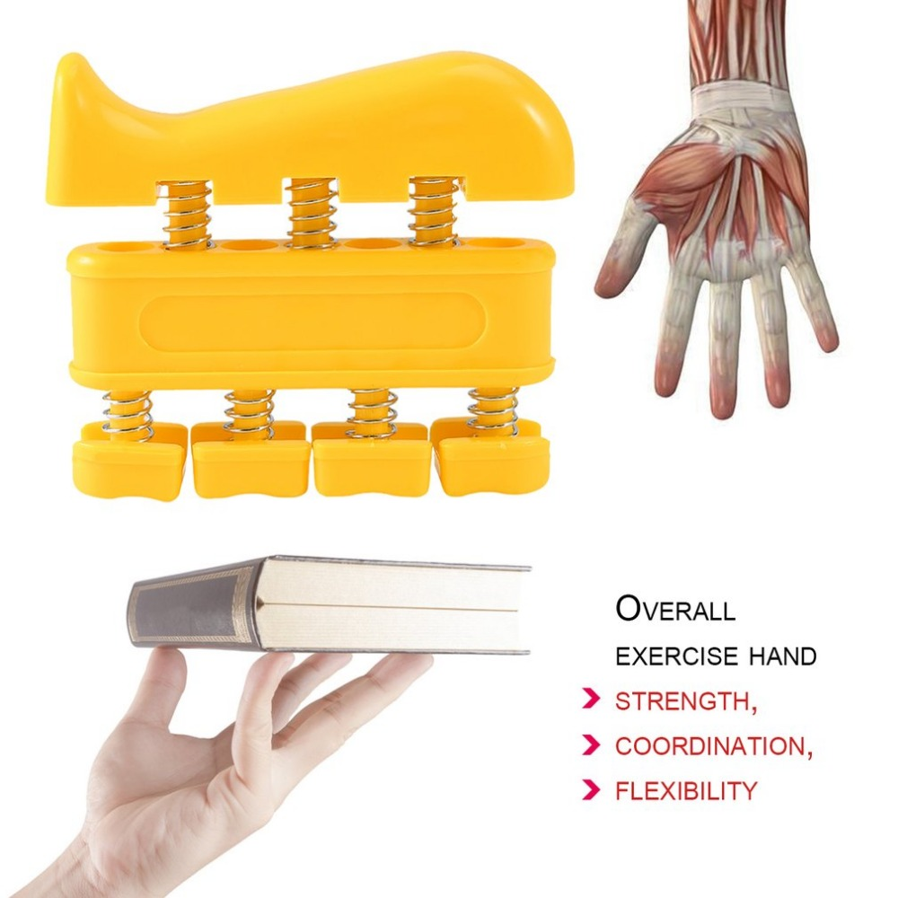 Men Women Fingers Self Strength Exerciser Heavy Wrist Tension Extend Hand Master Gym Trainning Fitness Equipment Gripping Ring in Hand Grips from Sports Entertainment