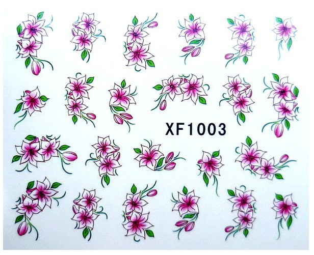 Image 4 - 60 Sheets Nail Art Flower Water Tranfer Sticker Nails Beauty Wraps Foil Polish Decals Temporary Tattoos Watermark-in Stickers & Decals from Beauty & Health