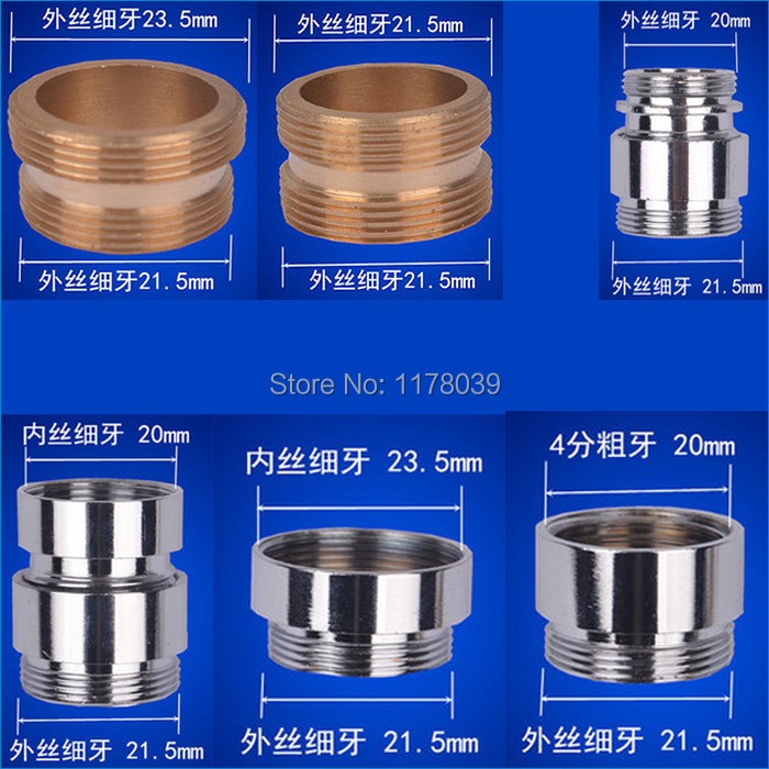 1pc Chrome Brass Faucet Aerator Adapter For Male Female G1/2\