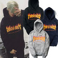 Men sportswear Thrasher hoodie flame skateboard dead fly west hip-hop harajuku hooded fleece Thrasher sweatshirt XXS-4 xl
