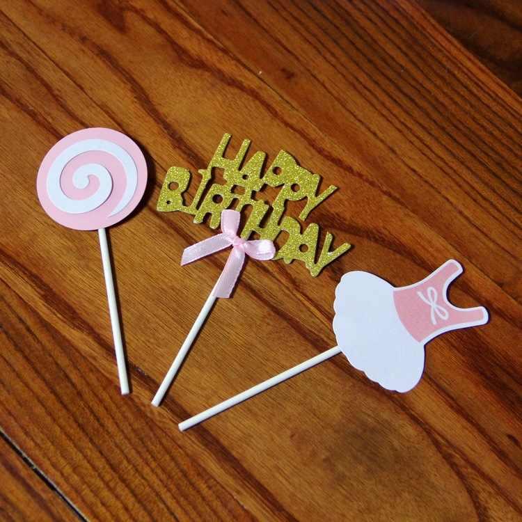 Nieuwe Gelukkig Birrthday Lollipop Rok voor Mannen en Vrouwen Verjaardagstaart Interpolatie Creatieve kerst ornamenten