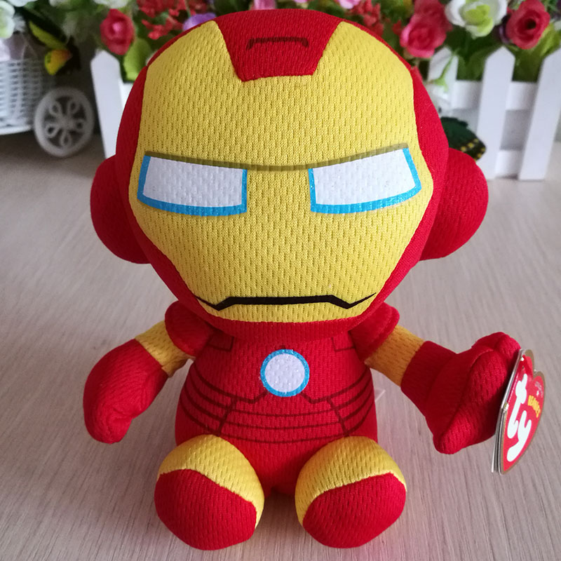 Iron man Spider man Captain American Hulk Dead Pool Plush Toy Ty Beanie  Baby 15 cm Kids Birthday Gift Super Heroes Figure-in Movies   TV from Toys    Hobbies ... 9b364f2eeb97