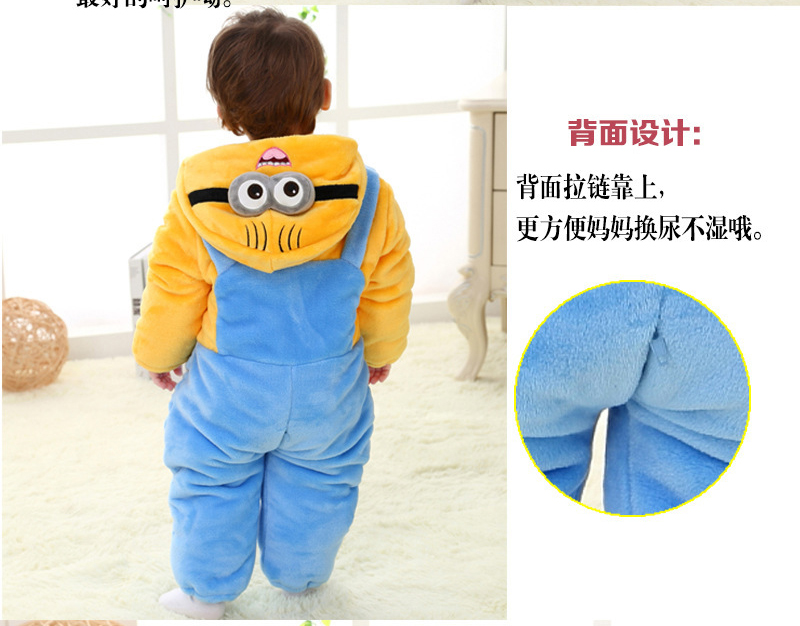 3faa0615e6dd Minions winter overalls for the boys baby girls thick rompers full sleeve  hoody baby snowsuit clothes 8 months 4 years-in Rompers from Mother & Kids  on ...