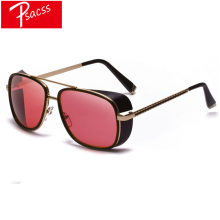 Psacss Vintage Steampunk Metal Sunglasses Men Sun Glasses Men's Retro Brand Designer High Quality Mirror Sunglass gafas de sol