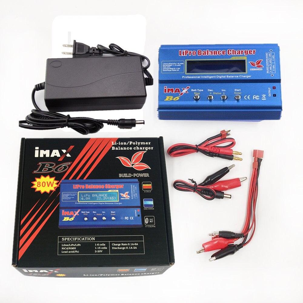 Build-Power Fabrik Großhandel IMAX B6 Digitale RC Lipo NiMh Batterie-balancen-aufladeeinheit Mit AC POWER 12 v 6A Adapter
