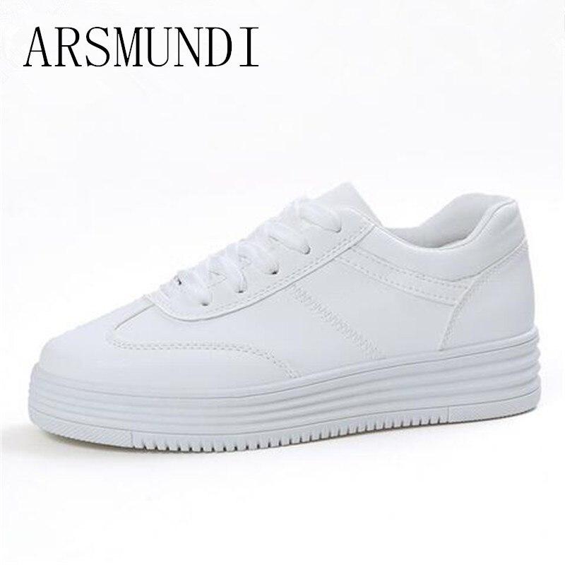 ARSMUNDI 2018 Designer Spring Summer Comfortable Women Causal Shoes White Women Flats Zapatillas Deportivas Mujer L301