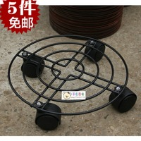 Thickening type iron belt pulley mobile flower pot rack pallet plants gas tank