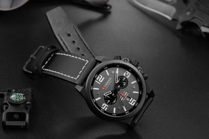 Image 4 - Mens Watches 2018 Luxury Brand CURREN Reloj Hombre Casual Quartz Leather Wristwatch Chronograph and Date Window Waterproof 30M