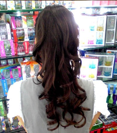 New ultra-convenient tie-style Long Ponytail loose curls hair Extension 50CM emp015  free shipping