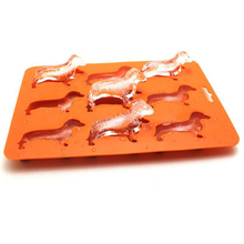 1Pc Novelty Dog Shape Silicone Ice Tray Easy Release Cube Maker DIY Cake Baking Chocolate Fondant Mold 9 Grids