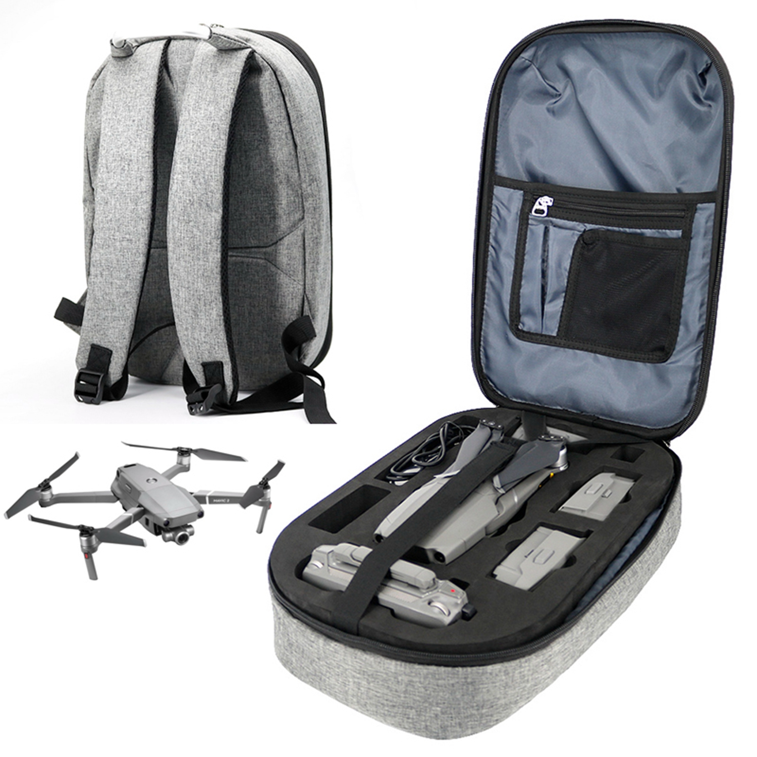 Dji Mavic 2 Backpack Storage Case Shoulder Bag Carrying Box for Mavic 2 Pro Zoom Drone Battery Portable Hard-shell Suitcase Kits
