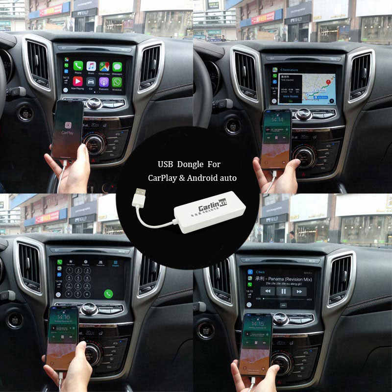 Car Smart Link USB Dongle Play Apple iOS CarPlay Android Digital TV Music MP5 Player Head Unit mirror iPhone Android Smartphone