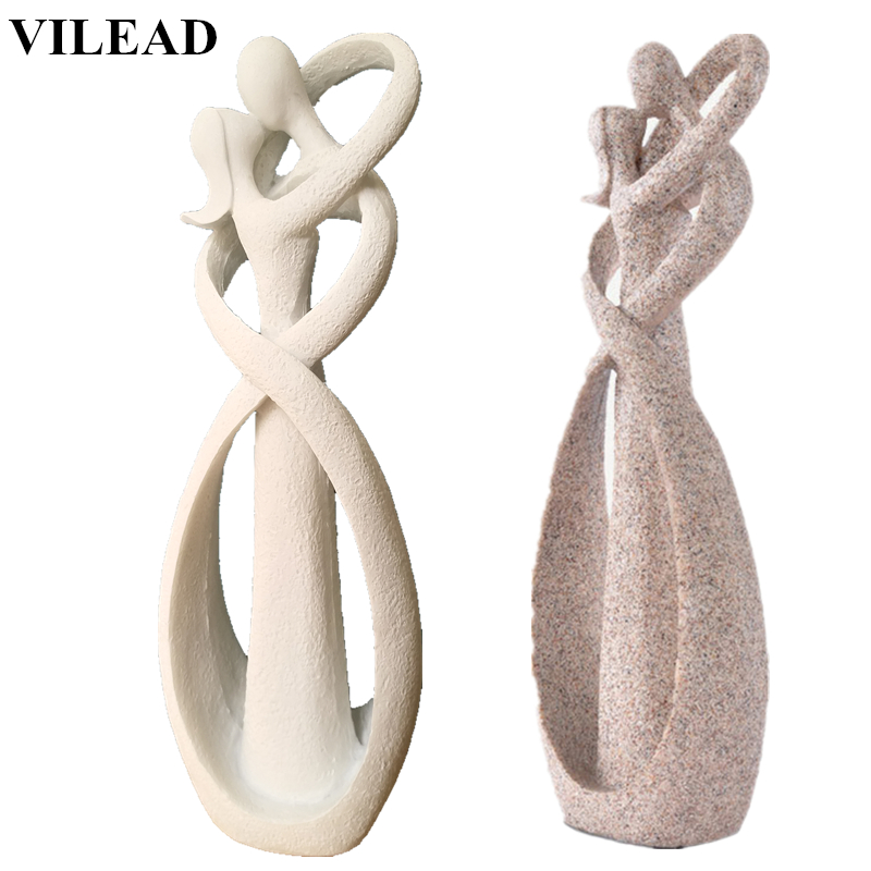 VILEAD Wedding-Decoration Souvenirs Figurines Sandstone Christmas-Gift Vintage Kissing