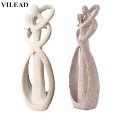 Купить с кэшбэком VILEAD 23cm Sandstone White Kissing Lover Figurines Wedding Decoration Anniversary Souvenirs Vintage Home Decor Christmas Gift