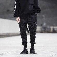 2019 남성 하렘 힙합 바지 조깅 바지 Streetwear 스웨트 남성 패션 블랙 카고 바지 남성 조깅스 Pantalones Hombre