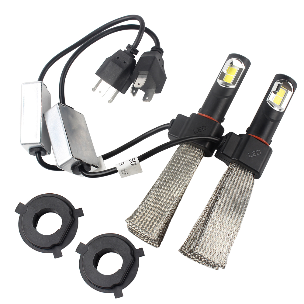 Automobiles & Motorcycles Fashion Style 2pcs/set H4 6000k 4000lm Led Car Headlight Headlamp Conversion Kit Aluminum Alloy Belt Heat Dissipation Car Styling Be Novel In Design