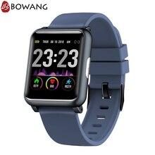 Купить с кэшбэком 2019 New Heart Rate Monitor Smart Watch ECG PPG Square Smartwatch BOWANG Health Care Index Waterproof Blood Pressure Men W24