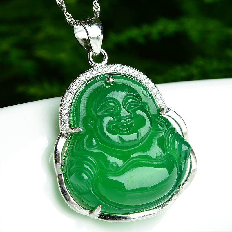 sterling l necklace jade green genuine sivler big designs pendant jewelry