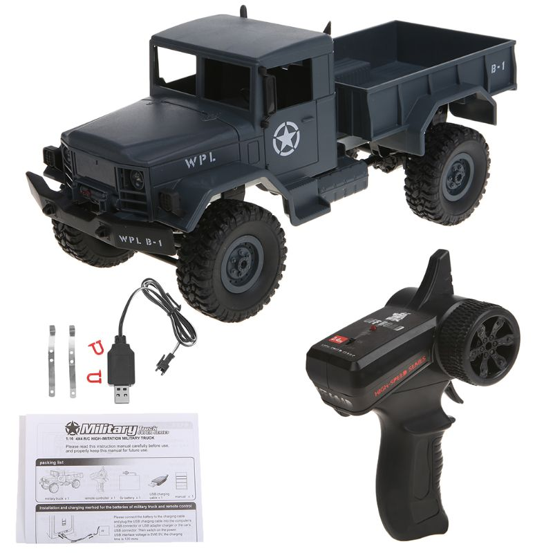 WPL B14 RC Car 1/16 Rock Crawler Off-Road 4WD 2.4G Military Truck Car Funny Toy MAY-9